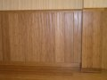 horizontal bamboo wainscoting