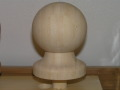 green bamboo finial for newel post